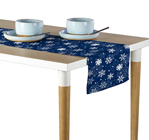 Milliken Winter Blue Snowflakes Table Runner Assorted Sizes (14