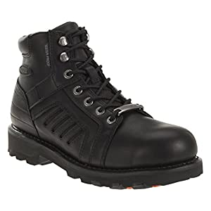 Harley-Davidson Men's Zachary Black FXRG Motorcycle Boots. D96081 (Black, 13)