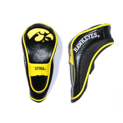 Team Golf NCAA Iowa Hawkeyes Hybrid Golf Club Headcover, Hook-and-Loop Closure, Velour lined for Extra Club Protection -