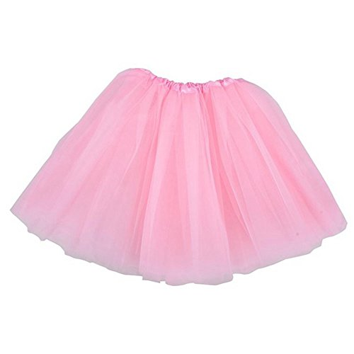Classic Elastic Ballet-Style Adult Tutu Skirt, Great princess tutu, adult dance skirt, petticoat skirt or pettiskirt tutu for women. Tulle fabric - Pink tutu (Youth Girls Mode Pants)