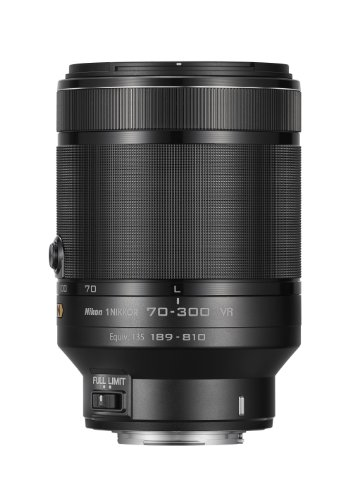 Nikon 1 NIKKOR VR 70-300mm f/4.5-5.6 Lens (Black) by Nikon