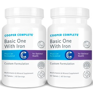 Day Supply 120 (Cooper Complete - Basic One with Iron - 2 Bottles (120 Day Supply))