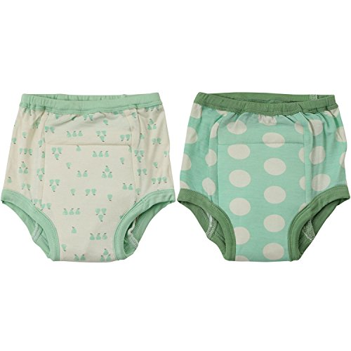 Silkberry Baby Bamboo Training Pants Seafoam (Pack of 2)