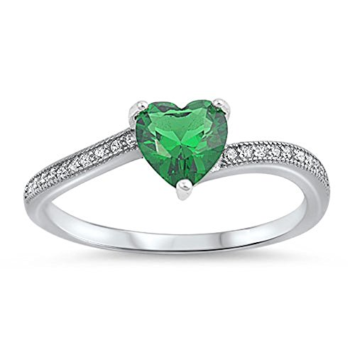Emerald Solitaire Ring - 5