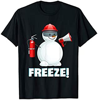 [Featured] Snowman Firefighter Officer Freeze Firefighter Christmas in ALL styles | Size S - 5XL