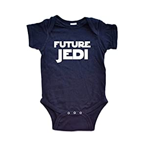 "Adorable ""Future Jedi"" Soft and Comfy Cute Baby Short Sleeve Cotton Infant Bodysuit"