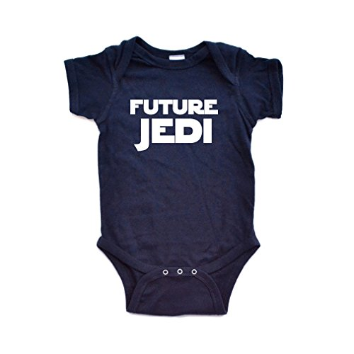 "Apericots Adorable ""Future Jedi"" Soft and Comfy Cute Baby Short Sleeve Cotton Infant Bodysuit -"