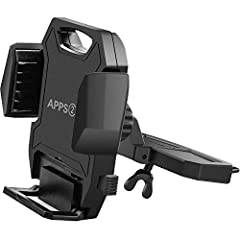 """Novel design cradle holder & CD slot base by APPS2Car!  Adjustable Extension Arm Design Suitable for width size from 1.97"""""""" - 3.94"""""""" smartphone or GPS devices Double Secure Protection Collapsible bottom and two adjustable arms allow your ..."""