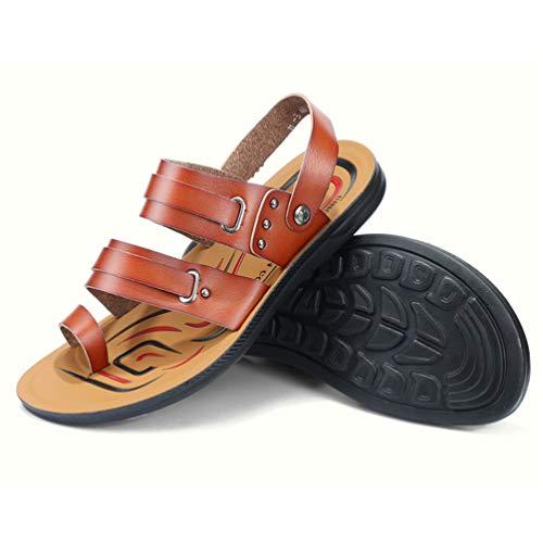 in Estive Pelle Uomini Flip Casual Pantofole Uomini Spiaggia Scarpe Sandali Scarpe Flop Stile Sneakers R745q7xU