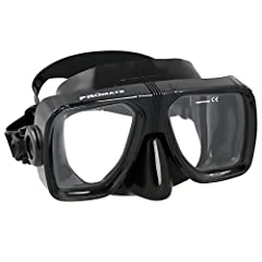 The scuba dive Mask is ideal for medium faces, and fits almost everyone- face seal size W4 1/2 * H3 3/8. Crystal, liquid silicone injected skirt and strap, Double edge comfort seal, low volume. Made in Thailand.Prescription (RX) Lens will be ...