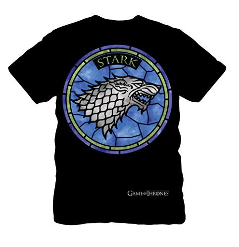 (Isaac Morris Game of Thrones - Stark Stained Glass - T-Shirt (Medium))