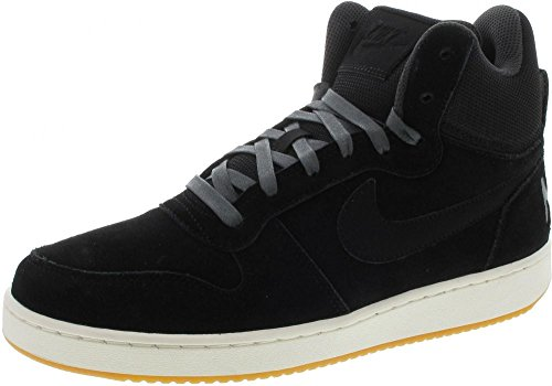 Nike Court Borough Mid Prem Größe (Variation) 45, Größenschema 45, Variationsfarbe Schwarz, Farbschema Schwarz