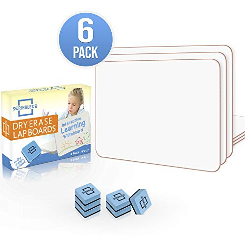 "6 Pack Dry Erase Lap Board 9""X12"" 