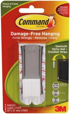 Sawtooth Metal Hanger w/Adhes, Sticky Nail, Hlds 6lbs. [Set of 2]