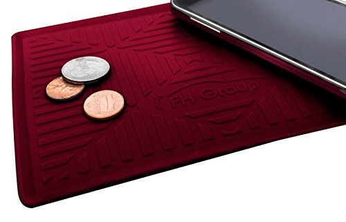 FH Group FH3011BURGUNDY Burgundy Silicone Anti-slip Dash Mat (for Smartphones IPhone Plus Galaxy Note Coin Grip Color)