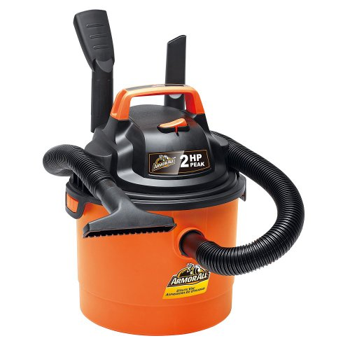 Armor All – 2.5 Gallon 2 HP 1-1 4 Hose, Portable Wall Mountable Wet Dry Utility Vac VOM205P0901