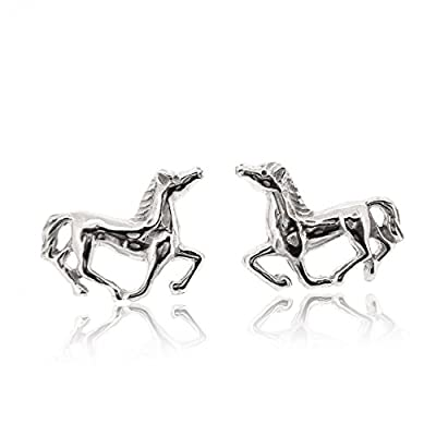 Sovats Horse Earring For Women 925 Sterling Silver Rhodium Plated - Simple, Stylish stud earrings&Trendy Nickel Free Earring