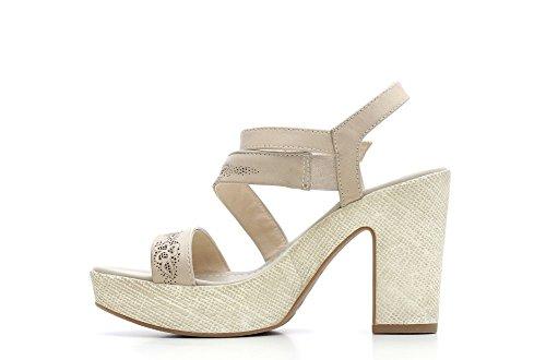 Nero Giardini Sandale High Heel Damen Leder Artikel P615630D 410 Sand