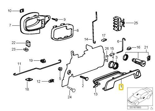 E36 Z3 Series T/ürgriffabdeckung rechts 1 Paar Chrom links