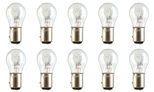 Miniature Bulb Bay15d Base (CEC Industries #2057LL Long Life Bulbs, 12.8/14 V, 26.88/6.72 W, BAY15d Base, S-8 shape (Box of 10))