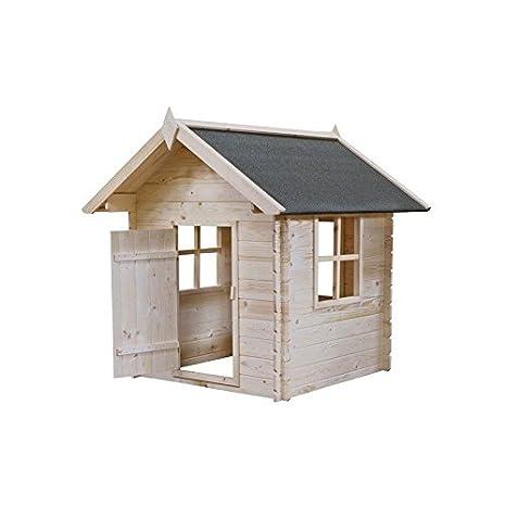 Niños casa de juguete Bimbi de madera 110 x 110 (H) cm: Amazon.es: Bricolaje y herramientas
