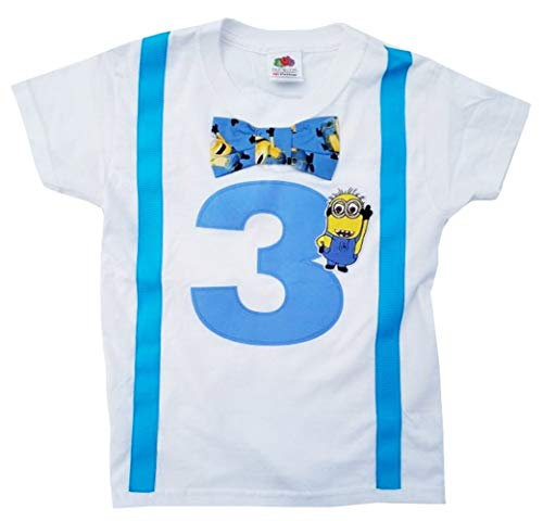 Perfect Pairz 3rd Birthday Shirt Boys Minions Tee]()