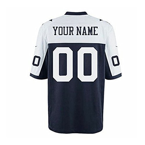 Fstylers Men Custom Football Navy Blue White Jersey Any Name & Number Personalized