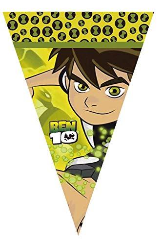 Ben 10 Party Banner Happy Birthday Flag Aliens Decoration Garland ()