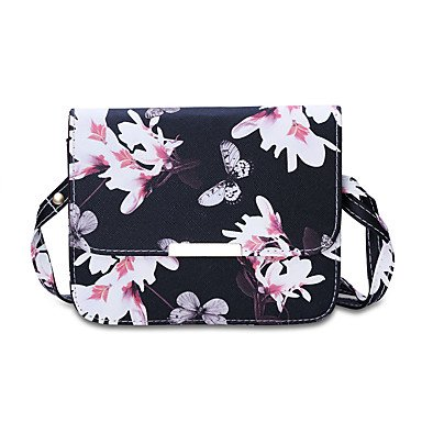 YJIUX Women Shoulder Bag PU All Seasons Wedding Event/Party Casual Formal Office & Career Sling Bag Pattern / Print Magnetic Black White,White