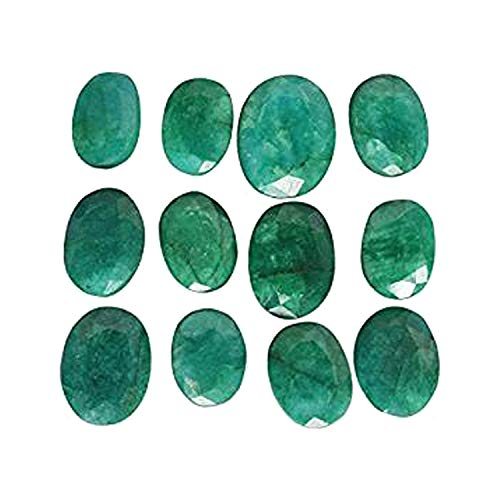 Special Offer ! 60 Ct./12 Pcs Natural Oval Cut Colombian Loose Green Emerald Gemstones Lot ()