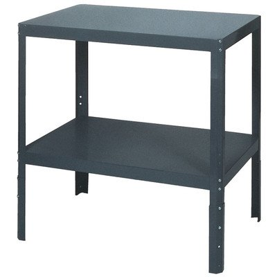 Adjustable Industrial Workbench Height (Edsal WT182430 Heavy Duty 16 Gauge Steel Adjustable-Height Multi Purpose Shop Table, 24