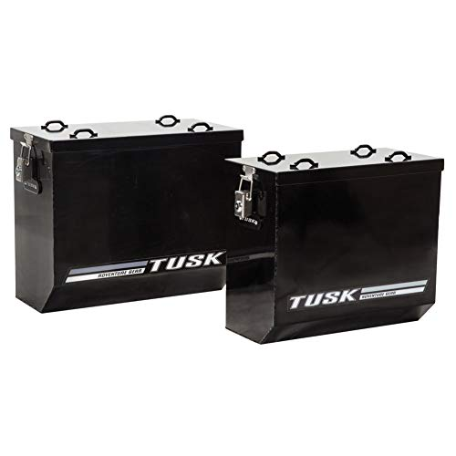 - Tusk Aluminum Dual Sport Adventure Panniers - MEDIUM BLACK