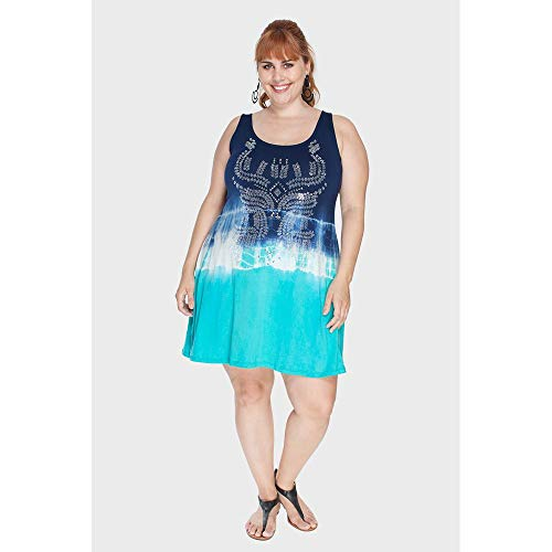Vestido Regata Tye Dye Plus Size Verde-50