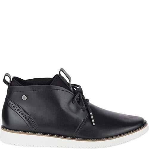 - Hush Puppies Womens Chowchow Chukka Black Leather Boot - 9 M