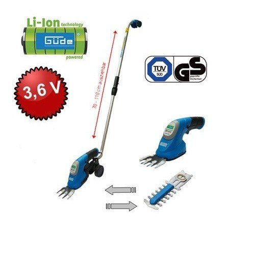 Güde GPS Akku-Gartenpflege-Set 3,6V LI-ION Heckenscheren & Grasscheren Set