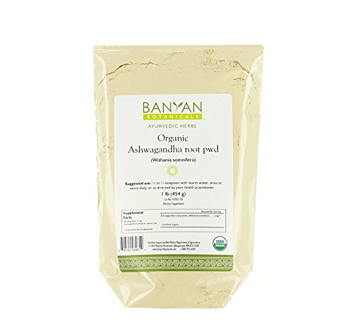 Banyan Botanicals Ashwagandha Powder - USDA Certified Organic, 1 Pound - Adaptogenic Ayurvedic Herbal Supplement That Promotes Vitality & Strength - Support for Stress-free Living!
