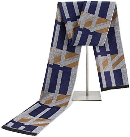 Color : 2, Size : 18030CM Zhukeke Mens Autumn Winter Warm Scarf Striped Neckerchief Tartan Scarves Paisley Bandannas Bandelet 18030cm for Men Long Shawls Wear-Resistant Fashion