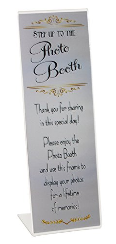 200 Slanted Photo Booth Frames with Silver Inserts for 2x6 Photo Strips by Photo Booth Nook