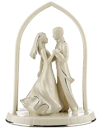 Delightful Lenox Wedding Promises Forever Yours Bride U0026 Groom Wedding Cake Topper