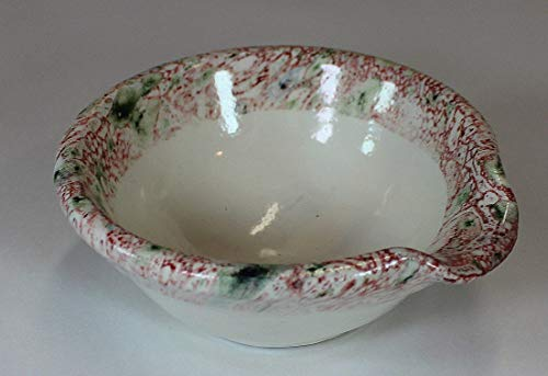 Bowl Handmade Small (Pink and Green Small Spouted Bowl)