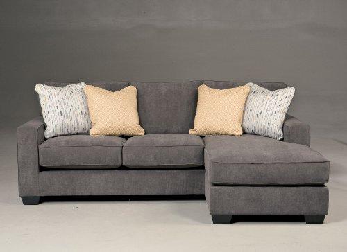 Ashley Hodan Microfiber Sofa Chaise in Marble