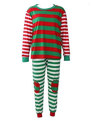 f20b17cf5 BESBOMIG Matching Family Christmas Pajamas Set - Long Sleeved T-Shirt Pjs
