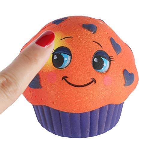 Mikilo Squishy Toy, Color Change by Temperature Squishies, Cup Cake Slow Rising Scented Reliever Stress Toy for Kids Birthday Gifts, Orange to Yellow, Purple to Pink]()