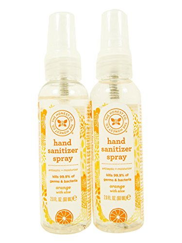 The Honest Company Hand Sanitizer Spray, Orange, 2 Oz, Pack of - Spray Antibacterial