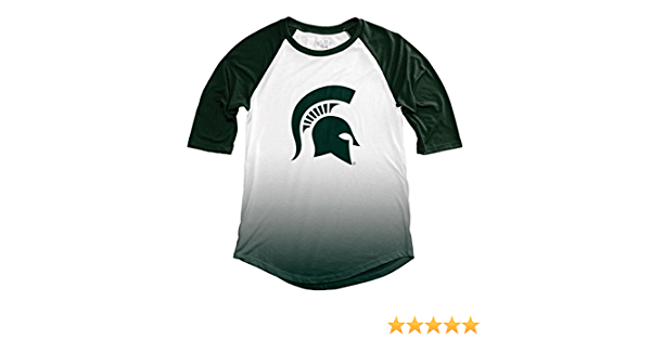 NCAA Michigan State Spartans Adult Women NCAA Womens Sublimated Baseball Tee,Large,Forest