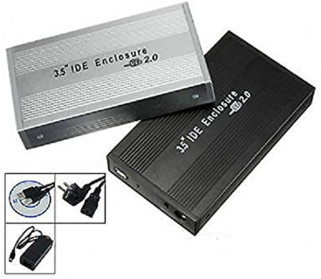 PACIFICO Carcasa Caja Disco Duro Externo 3,5 SATA USB Externa Funda Cables Aluminio: Amazon.es: Electrónica