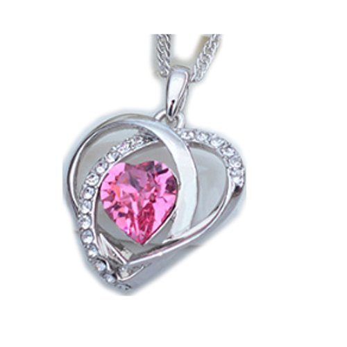 NL-12030C3 2016 Crystal Europe Heart-Shaped Necklace