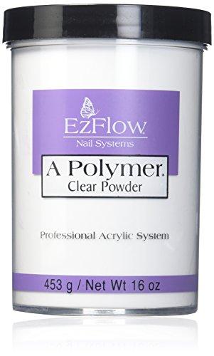EZ Flow A Polymer Clear False Nails, 16 - Ezflow Acrylic Powder