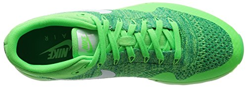 Nike Mens Air Max 1 Ultra Flyknit Hardloopschoen Voltage Groen / Wit-lcd Groen