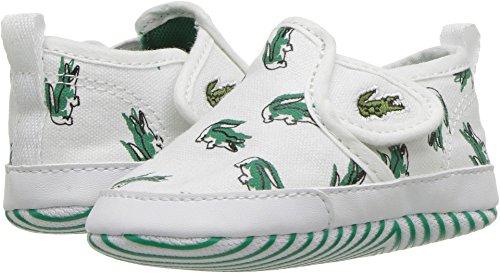 Lacoste Kids Unisex Gazon Crib 118 1 (Infant/Toddler) White/Green 1 Infant M